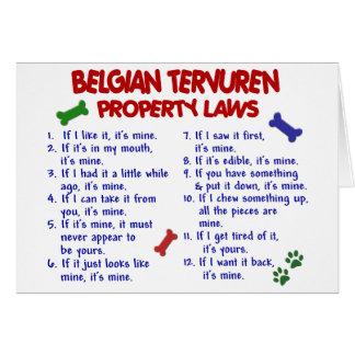 BELGIAN TERVUREN Property Laws 2 Card
