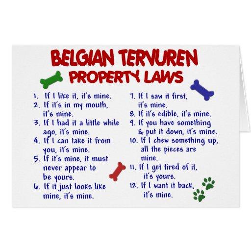 BELGIAN TERVUREN Property Laws 2 Greeting Card