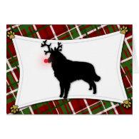 Belgian Tervuren Reindeer Christmas Card