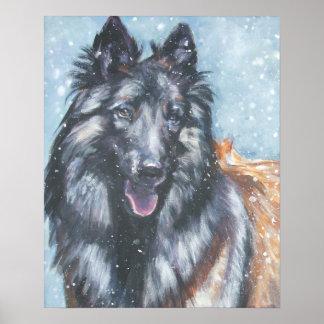 Belgian Tervuren Sheepdog Art Print