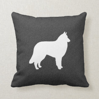 Belgian Tervuren Silhouette Throw Pillow