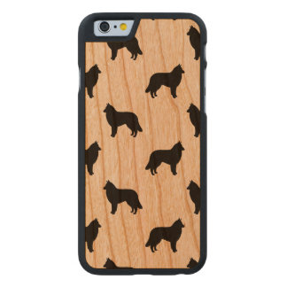 Belgian Tervuren Silhouettes Pattern Carved® Cherry iPhone 6 Slim Case