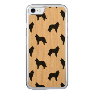 Belgian Tervuren Silhouettes Pattern Carved iPhone 7 Case