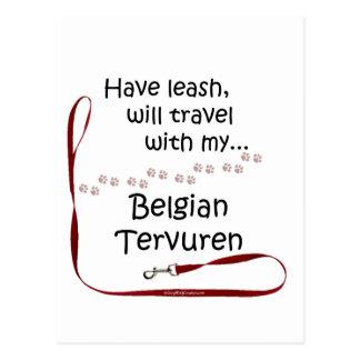 Belgian Tervuren Travel Leash Postcard