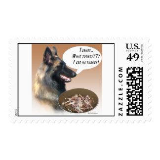 Belgian Tervuren Turkey Stamp