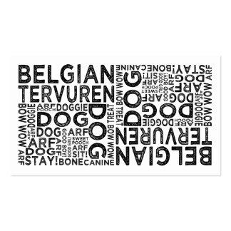 Belgian Tervuren Typography Business Card