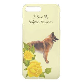 Belgian Tervuren w/Yellow Roses iPhone7 iPhone 7 Plus Case
