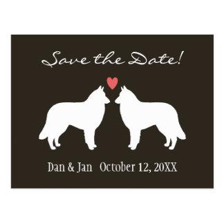 Belgian Tervuren Wedding Save the Date Postcard
