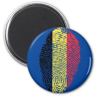 Belgian touch fingerprint flag 2 inch round magnet