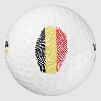 Belgian touch fingerprint flag golf balls