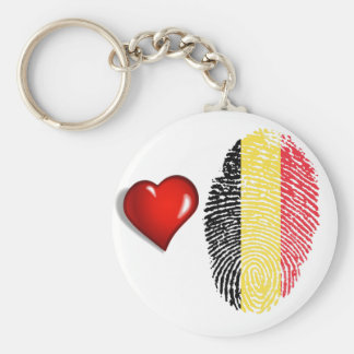 Belgian touch fingerprint flag keychain