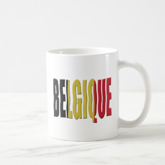 Belgian Tricolor (French / Francais) Classic White Coffee Mug