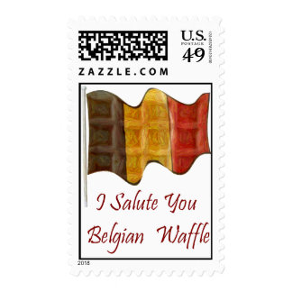 Belgian Waffle Postage Stamp