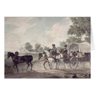 Belgian Wagon conveying Wounded from the Field Card