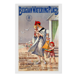 Belgian Watering Places Vintage Travel Poster