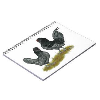 Belgian Watermaal Bantams Spiral Notebook