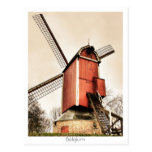 Belgian windmills postcard