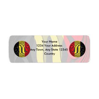 Bélgica #1 etiqueta de remite