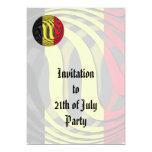Bélgica #1 invitación 12,7 x 17,8 cm