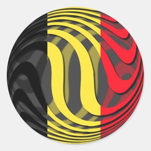 Bélgica #1 pegatinas redondas