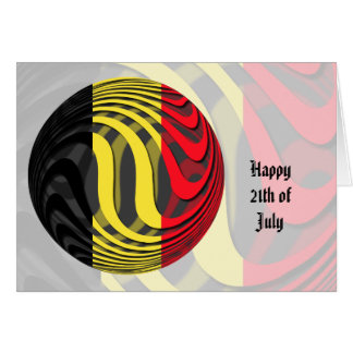 Bélgica #1 tarjeta de felicitación