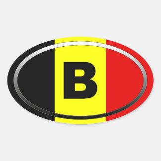 Bélgica - B - europeo Colcomanias De Óval