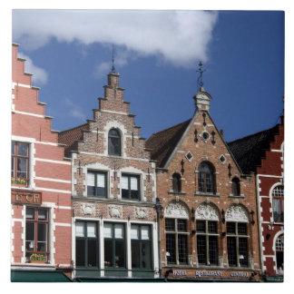Bélgica, Brujas (aka Brug o Bruge). La UNESCO 2 Azulejo Cuadrado Grande