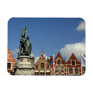 Bélgica, Brujas (aka Brug o Bruge). LA UNESCO Imán Rectangular
