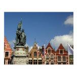 Bélgica, Brujas (aka Brug o Bruge). LA UNESCO Tarjeta Postal