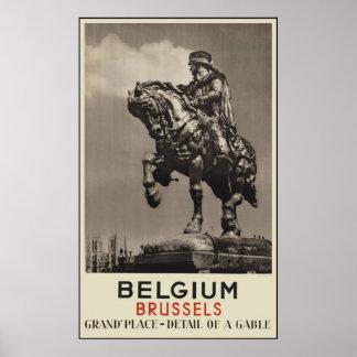 Bélgica Bruselas Poster
