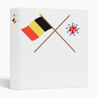 Bélgica cruzada y banderas de habla alemana de la carpeta 2,5 cm