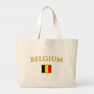 Bélgica de oro bolsa tela grande