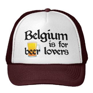 Bélgica está para los amantes de la cerveza gorros bordados