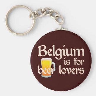 Bélgica está para los amantes de la cerveza llavero redondo tipo pin