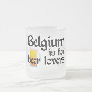 Bélgica está para los amantes de la cerveza taza de cristal