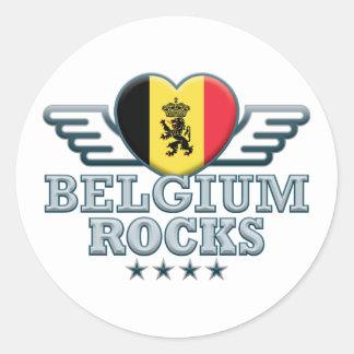 Bélgica oscila v2 pegatina redonda