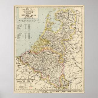 Bélgica, Países Bajos 2 Póster
