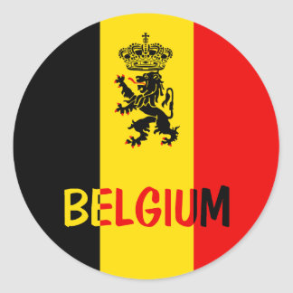Bélgica Etiqueta Redonda