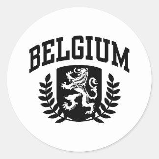 Bélgica Pegatina Redonda