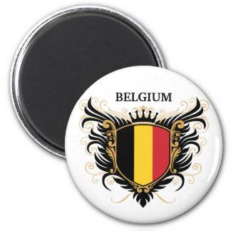 Bélgica [personalice] imán redondo 5 cm