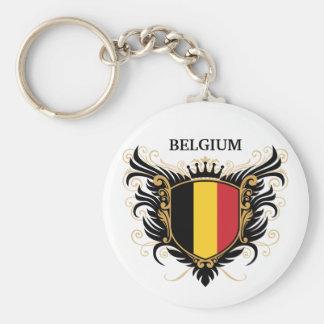 Bélgica [personalice] llavero redondo tipo pin