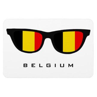 Bélgica sombrea el texto y el imán de encargo del