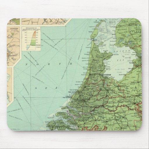 Bélgica y Holanda Alfombrillas De Ratón