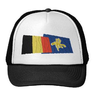 Bélgica y región de banderas que agitan de Brusela Gorros Bordados