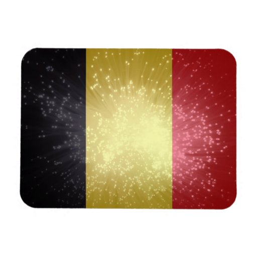 België; Bandera de Bélgica Imanes Rectangulares