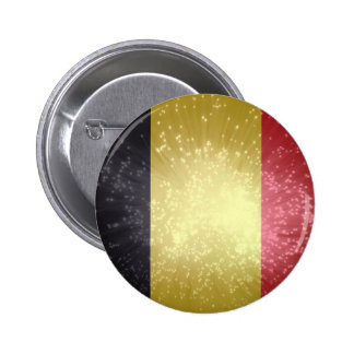 België; Belgium Flag Pinback Button