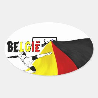 Belgie Oval Sticker