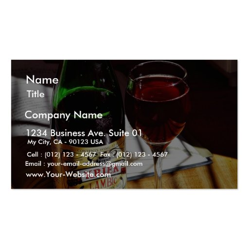 Belgin Lambic Double-Sided Standard Business Cards (Pack Of 100)