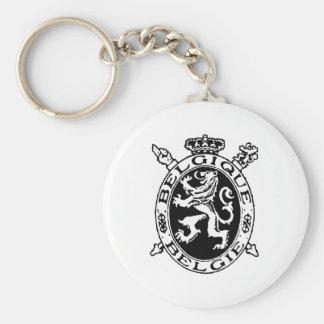 Belgique Belgie Basic Round Button Keychain