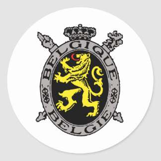 Belgique Belgie Pegatina Redonda